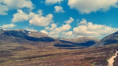 Beinn a'Bhuird from upper Glen Quoich