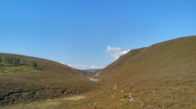Clais Fhearnaig between Glen Lui and Glen Quich